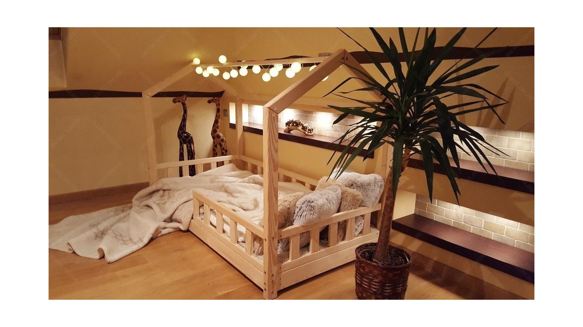 house bed bella with barrier 60 x 120cm house bed. Black Bedroom Furniture Sets. Home Design Ideas