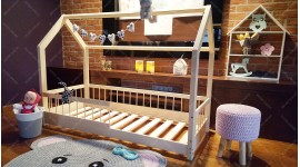 House bed Lisa with barrier 60 x 120cm
