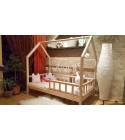 House bed Beech wood 90 x 160cm