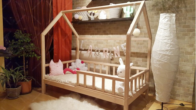 Bed 140 Cm.House Bed Beech Wood 70 X 140cm