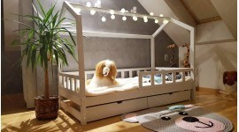 House bed Bella with Barrier and Drawer