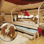 Achtung, wie Sie auf dem Bild sehen können, ist ein sehr schöner und kuscheliger olivianischer Hund auf freiem Fuß. Jeder wird es in seinem finden, er muss ihn unbedingt umarmen :) Und was sind deine liebsten Umarmungen?#housebed #housebeds #house #bed #hausbett #interiordesign #kinderzimmer #kinderzimmerideen #germany #berlin #kinder #hunt #tiger