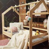 Jak podoba się wam nasze łóżko Milos w sesji wieczornej?Więcej na: https://oliveo.pl/lozko-domek/15-drewniane-lozko-domek-z-barierka-naturalne-milos.html#lozkodomek #łóżkodomek #housebed #housebeds